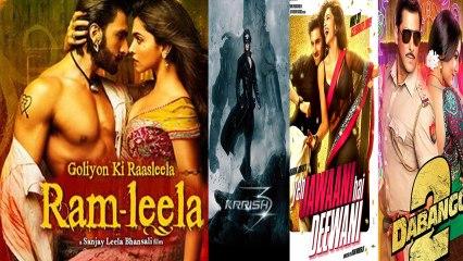 Ram Leela Beats Krrish3,Yeh Jawaani Hai Deewani,Dabangg2