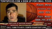Toronto Raptors vs. Portland Trailblazers Pick Prediction NBA Pro Basketball Odds