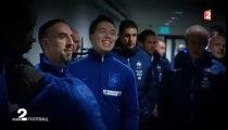 Ribéry et Narsi tout sourire avant Ukraine vs France - 2013
