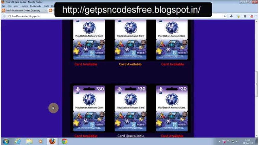 Get Free PSN Card Codes ( $20, $30 & $50 Card Codes )