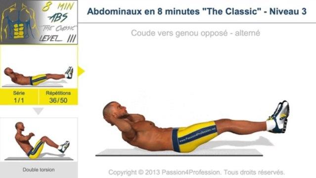 """Abdominaux en 8 minutes """"The Classic"""" - Niveau 3"""