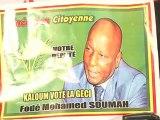 kadija Baldé, Garnet et le Pt de la GéCi Fodé Mohamed Soumah dans le Journal de Campagne lors des élections Législatives du 28 septembre 2013 en Guinée