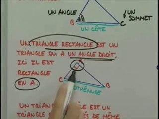 Les triangles rectangles, isocèles et équilatéraux