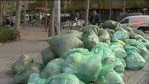 Los barrenderos se afanan por limpiar Madrid antes del jueves