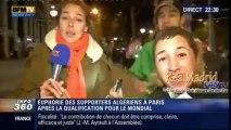 La joie des algériens à Paris suite à la qualification pour le mondial 2014 de Foot  - 2013 11 19