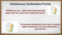 Color Carbonless Paper Forms and Printing