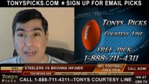 Cleveland Browns vs. Pittsburgh Steelers Pick Prediction NFL Pro Football Odds