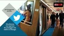 Elle est nue dans le métro