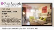 Studio Apartment for rent - Buttes Chaumont, Paris - Ref. 5392