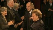 Jacques Chirac et François Hollande s'affichent ensemble au Quai Branly