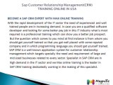 SAP CRM ONLINE TRAINING/CRM MODULES SUPPORTING@Magnifictraining.com
