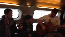 """Bastian Baker & The Band - Stuck in the Train ? Let's Jam ! """"Follow The Wind"""" (Acoustic) - TOTDY Crazy Tour pt. 4"""