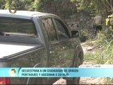 Asesinan a joven tras ser secuestrado junto a su padre en la Caracas - La Guaira