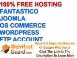 Go for a 100% free web hosting server joomla fantastico oscommerce