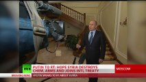 Putin: Syria chemical arms handover will work only if US calls off strike