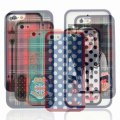 Hytparts.com-For iPhone 5 Red Scottish Tartan Plaid Skin Protective Back Cover Case Hard Shell