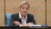 Marine Le Pen demande que la Région réserve ses dépenses aux dossiers qui concernent le Nord-Pas-de-Calais