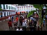 Rush in the theme puja pandal: Kolkata Durga puja