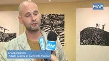 Vernissage à Rabat de l'exposition du plasticien français Charles Bignon