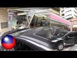 Speeding car crashes into convenience store