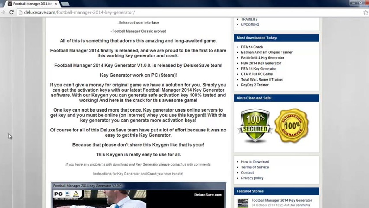 Football Manager 2014 CD Key generator [Free activation serial undetected  key lists - working] + Crack