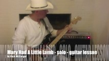 Guitar Lesson: Stevie Ray Vaughan - Mary Had A Little Lamb - solo with tab