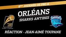 Réaction de Jean-Aimé Toupane - J08 - Orléans reçoit Antibes