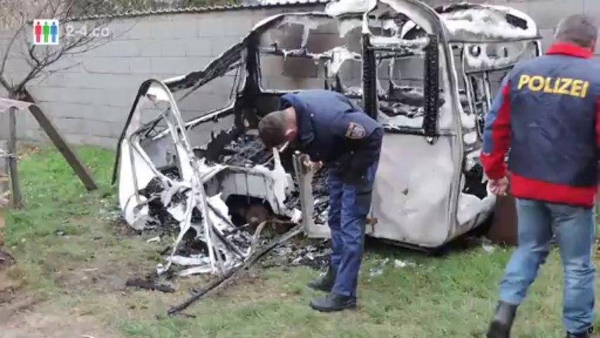 Brandstiftungen Hainburg - Brandspürhunde im Einsatz