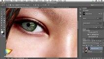 La retouche beauté avec Photoshop : Le traitement de la peau : trailer   video2brain.com