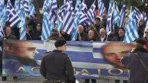 Grèce: manifestation d'Aube dorée pendant l'audition de ses députés