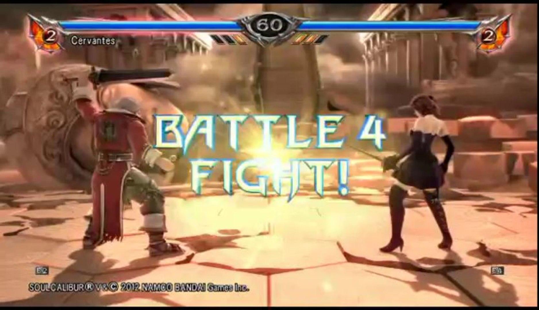 Soul Calibur V | Ranked Online Match - Cervantes Versus Amy