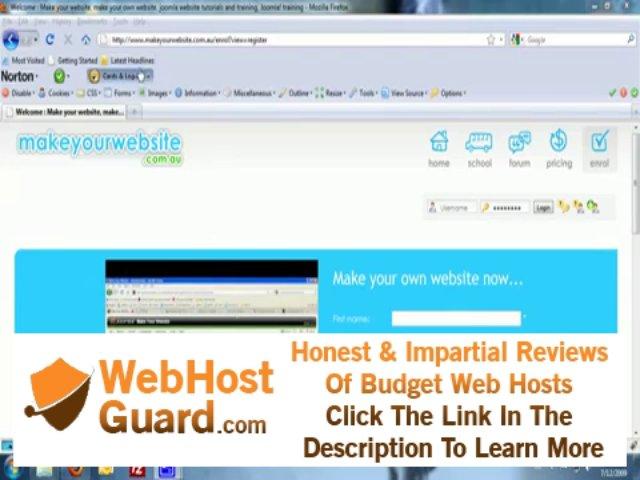 Make Your Website: Domain Name Registration and Website Hosting