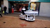 Singing Nun On Motorised Piano Brightens Up Burnley Shopping Centre