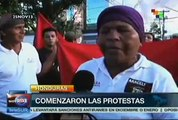 Hondureños irritados toman pacíficamente la vía pública en Tegucigalpa