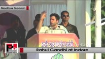 Rahul Gandhi slams BJP says only Congress can make Indore the commercial capital of MP