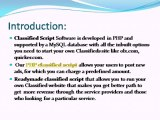 Classified Script, PHP classified script, Classified ads script, Readymade classified script
