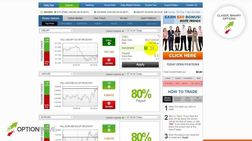 ▶ Optionprime.com Binary Options Trading Demo Introduction