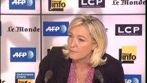 """Marine Le Pen aux journalistes """"Le climat de racisme, c'est vous qui l'organisez"""""""