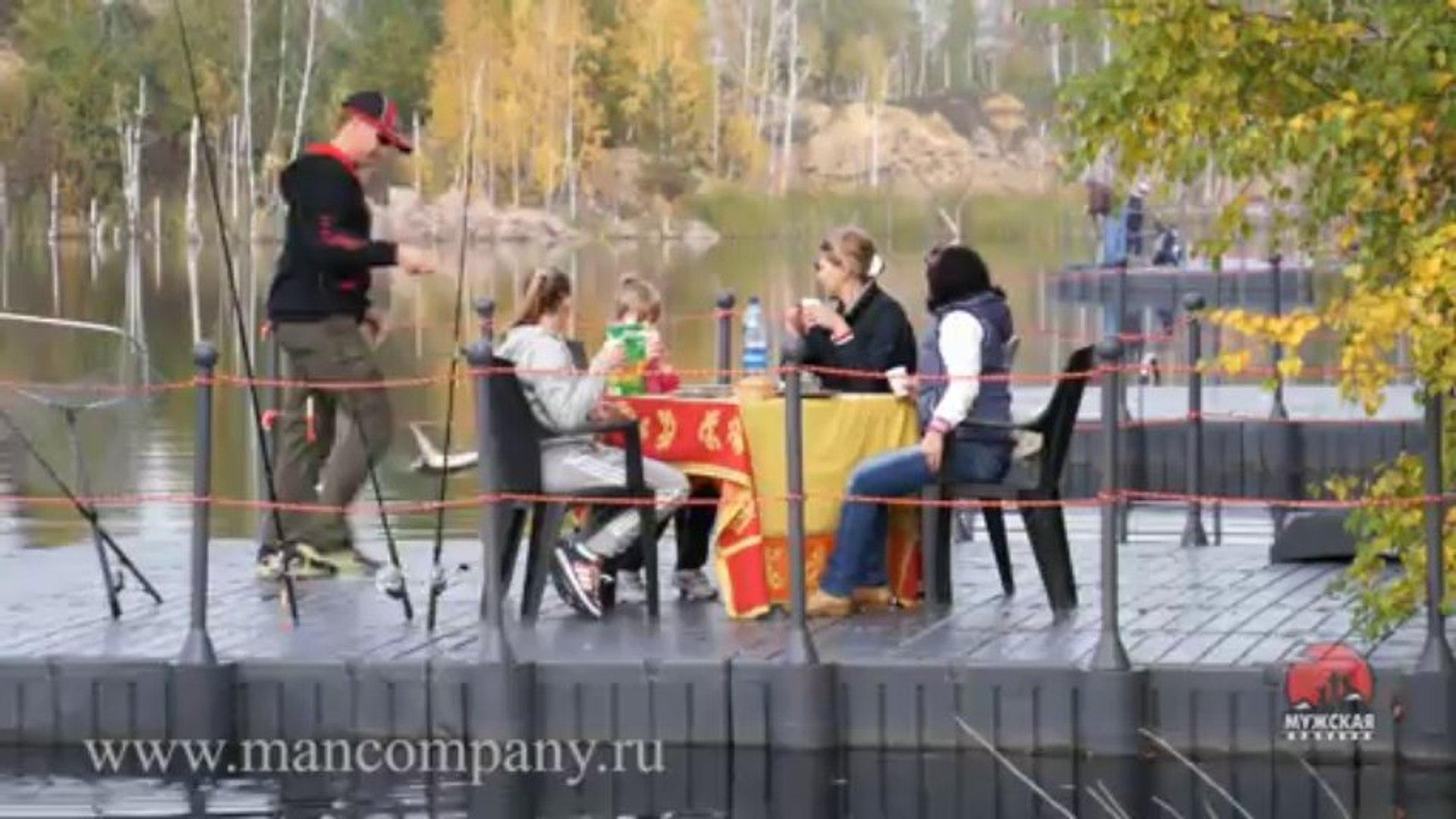 Клип: Ловля на платнике. Семейная рыбалка видео Full HD