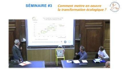 Conférence-débat sur la transformation écologique 3/4 - Séminaire #3