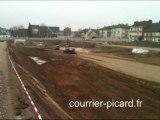 Jeu de Paume à Beauvais : pose de la première pierre du centre commercial