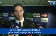 Zlatan: «Pas besoin de Ballon d'Or pour savoir que je suis le meilleur»