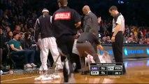 Jason Kidd spills Drink on Court
