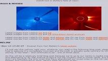 COMET ISON NEW IMAGES SOHO NASA 27-28-29 STILL MOVING