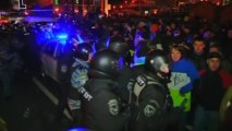 Clashes between Ukraine protesters and police