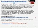 Global Personal Protective Equipment Market 2014-2018