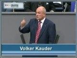 Volker Kauder zum Bundeshaushalt