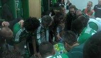 La joie des Verts après ASSE 4-0 Reims