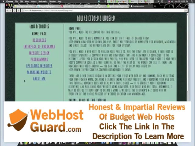 Screencast Series On Creating Your Own Website: Part 4 – Hosting Your Website