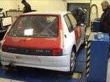 Passage au Banc de la 205 chez Henry Sport Auto � Moulins, un ancien de Sodemo, avec l'�quipe de Gemo Motorsport